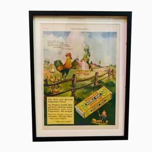 Vintahe Wrigley's Gum Advertising Print, 1927