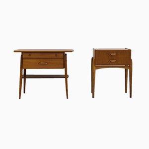 Tables de Chevet Vintage en Teck, Set de 2