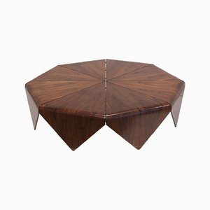 Petalas Rosewood Coffee Table by Jorge Zalszupin, 1960s