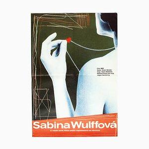 Vintage Sabine Wulff Filmposter von Petr Chalabala, 1979