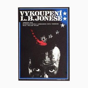 Vintage The Liberation of L.B. Jones Filmposter von Miroslav Němeček + Petr Sirotek, 1970