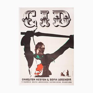 El Cid Movie Poster by Karel Machálek, 1969