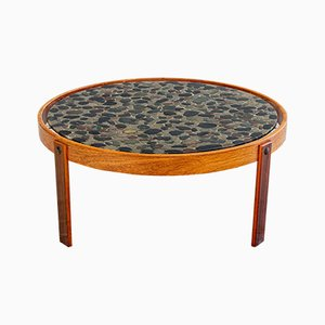 Danish Rosewood Resin Side Table, 1970s