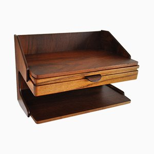 Danish Teak and Rosewood Wall Mounted Storage, 1950s
