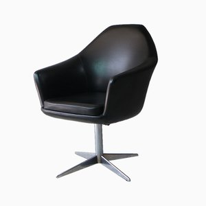 Mid-Century Danish Vinyl Swivel Chair from Modell, 1960s