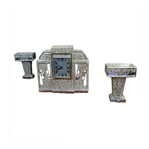Art Deco Clock & Vases Set