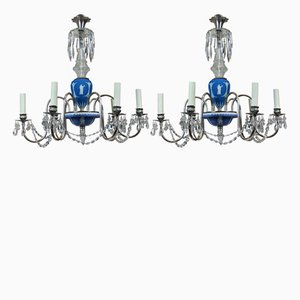 Vintage English Chandeliers from Wedgwood, 1930s, Set of 2