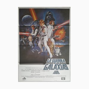 Spanish Star Wars Rerun Film Poster, 1986