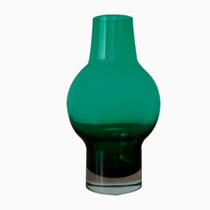 Finnish Glass Vase by Aimo Okkolin for Riihimaki, 1960s