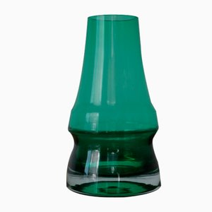 Finnish Piippu Glass Vase by Aimo Okkolin for Riihimaki, 1960s