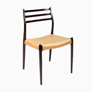 Vintage Mahogany Model 78 Dining Chair by Niels O. Møller for J.L. Møllers