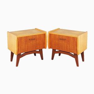 Vintage 2-Tone Bedside Cabinets, 1960s, Set of 2