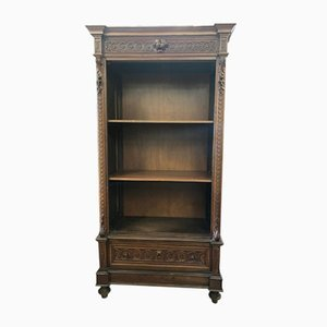 Antique Solid Walnut Cabinet