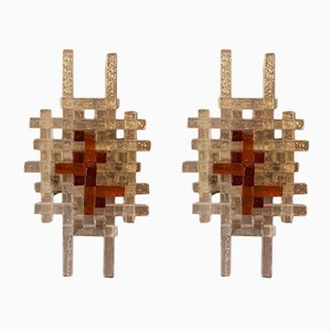 Mid-Century Modern Wall Lights by Albano Poli for Poliarte, Set of 2