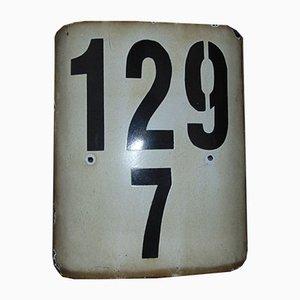 Placa de ferrocarril 129/7 vintage