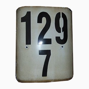 Plaque de Chemin de Fer 129/7 Vintage
