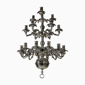 Antique French Silver Chandelier, 1850s