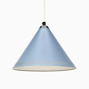 Vintage Danish Blue Pendant Light from Lyfa