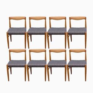Chaise en Teck par HW Klein pour Bramin, Danemark, 1960s, Set de 8