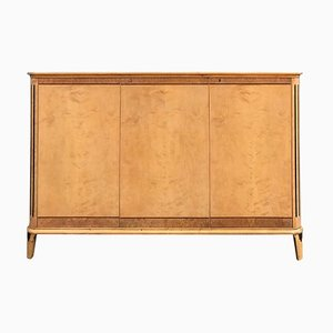 Swedish Satin Birch Sideboard, 1940s