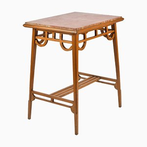 Antique Spanish Arts & Craft Modernismo Side Table