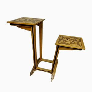 Inlaid Wood Side Table, 1930s