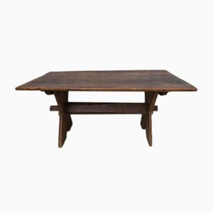 Antique English X-Frame Tavern Table