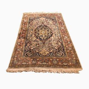 Handgewebter Mid-Century Teppich aus Wolle & Seide