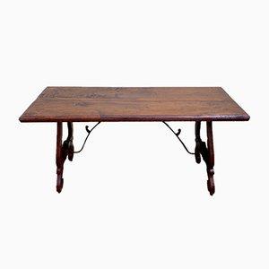 Tavolo o scrivania in legno di pioppo, anni '80