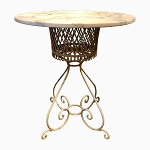 Vintage Wrought Iron Garden Table