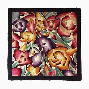 Alfombra cuadrada floral de Missoni, años 90
