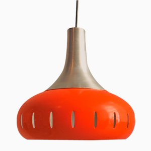 Lampe à Suspension en Métal Orange, 1960s