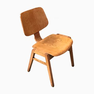 Modernist Plywood Stackable Dining Chair, 1950s