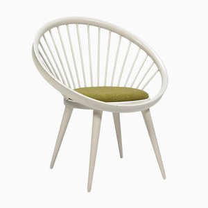 Vintage White Circle Chair by Yngve Ekström for Swedese