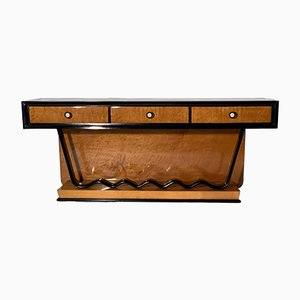 Art Deco Low Console Table with Drawers