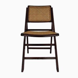 Chaise Pliante Vintage en Jonc, 1970s
