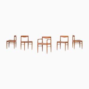 Mid-Century Esszimmerstühle von Henry W. Klein für Bramin, 1960er, 5er Set