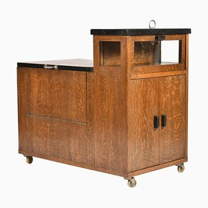 Art Deco Oak Drinks Trolley, 1930s