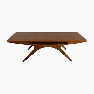 Smile Teak Coffee Table by Johannes Andersen for CFC Silkeborg, 1957