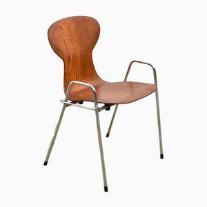 Stapelbarer Stuhl aus Schichtholz von Tubax, 1980er