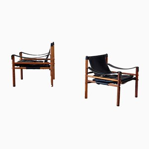 Vintage Sirocco Safaristühle von Arne Norell für Arne Norell AB, 1960er, 2er Set