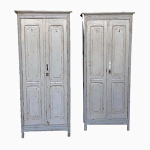 Antique French Wardrobes, Set of 2