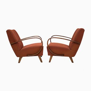 Armchairs by Jindrich Halabala for UP Zavody, 1940s, Set of 2