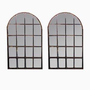 Miroirs Encadrés Antiques en Fer Forgé, Set de 2