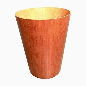 Mid-Century Modern Teak Office Waste Basket