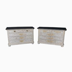 Antique French Commodes, Set of 2