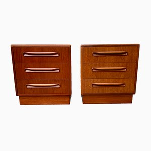 Vintage Teak Bedside Tables with Drawers from G-Plan, Set of 2