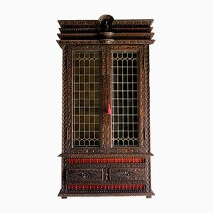 Antique French Napoleon III Display Cabinet, 1850s