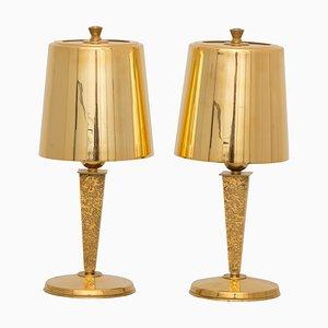 Lampes de Bureau Art Déco par Genet & Michon, Set de 2