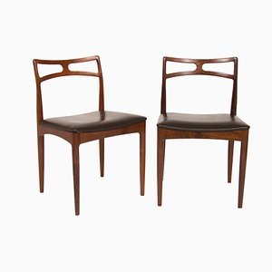 Mid-Century Dining Chairs by Johannes Andersen for Christian Linneberg, Set of 2